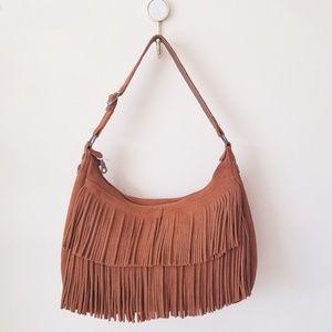 Handbags - Minnetonka Boho Fringe Suede Leather Shoulder bag